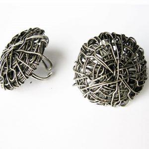 Bague pelote en métal-0