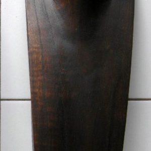Présentoir pour collier en bois marron 30cm-0