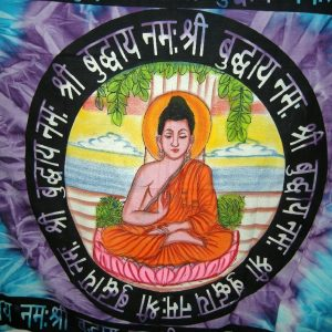 Tenture BOUDDHA MANTRA BRUSH 1.40x2.20m-0