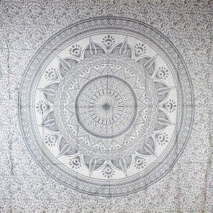 Tenture MANDALA DIWALI argent 2,40x2.20m-0