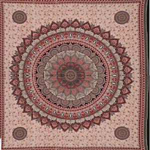 Tenture MANDALA badal rouge 2,40x2.20m-0
