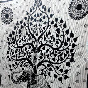 Tenture ELEPHANT en noire & blanc 2.40x2.20m-0